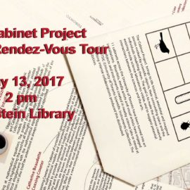 The Cabinet Project at Science Rendez-Vous May 13, 2:00 pm