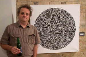"Spiral Defect Chaos at the Project Gallery Spiral Defect Chaos meets steam whistle beer. The ""Twisted"" show. projectgallerytoronto.wordpress.com"