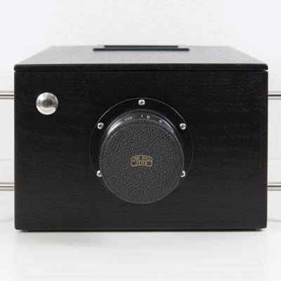 The One Pixel Camera (2014) - Wooden box, tripod mount, Zeiss lens, LCD viewnder, custom electronics and software