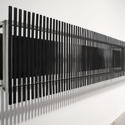 The Moiré Corridor Prototype (2012) - Installation at the ArtLAB Gallery for the exhibition Prototypes, Experiments and Carefully-Considered Observations (2012)