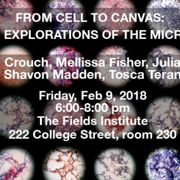 From Cell to Canvas: Creative Explorations Of The Microscopic. Next ArtSci Salon Feb. 9 at Fields + workshop on Feb. 10, Hacklab